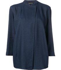 emporio armani rustic garbadine jacket - blue