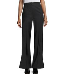 tuxedo wool-blend flare pants