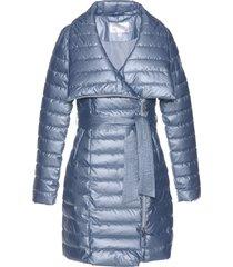 cappotto corto trapuntato lucido (blu) - bpc selection premium