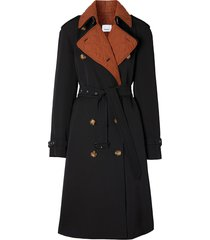 burberry detachable-warmer trench coat - black
