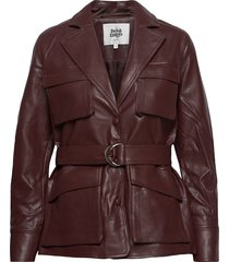 cecilia jacket läderjacka skinnjacka brun twist & tango