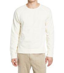 officine generale baptise raglan crewneck sweatshirt, size xx-large in ecru at nordstrom