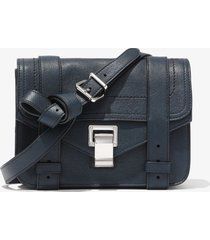 proenza schouler ps1 mini crossbody bag dark navy/blue one size