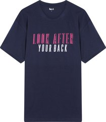 camiseta m/c con screen look after color azul, talla l