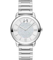 women's movado bold pave bracelet watch, 32mm