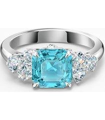 anello sparkling, turchese, placcato rodio