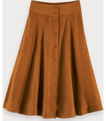 scotch & soda cupro blend skirt