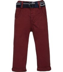lapin house belted cotton chino trousers - red