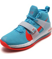 tenis basketball azul-naranja nike air force max ii
