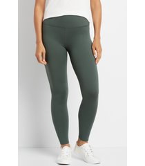 maurices womens high rise olive full length luxe leggings green