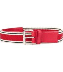 a.n.g.e.l.o. vintage cult webbing logo belt - red