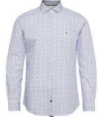 mini floral print slim shirt skjorta casual multi/mönstrad tommy hilfiger tailored