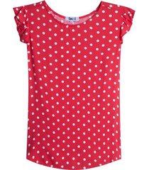 blusa m/s pepas color rojo, talla l
