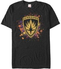 marvel men's guardians of the galaxy splatter spider shield short sleeve t-shirt