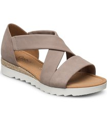 sandals shoes summer shoes flat sandals beige gabor