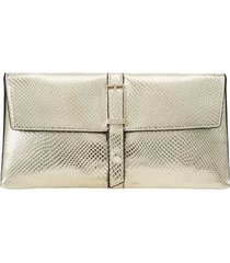 calvin klein gold reptile effect crossbody bag