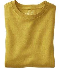 jersey t-shirt uit een mix van hennep en bio-katoen, saffraan l