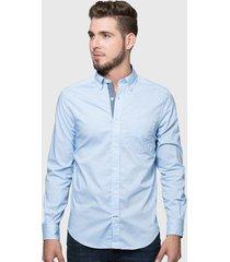 camisa nautica celeste - calce regular