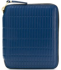 comme des garçons wallet all-around zipped wallet - blue
