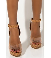 akira cape robbin lovely day chunky sandal heel