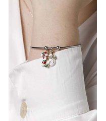 christmas elk snowflake handmade pendant bracelet