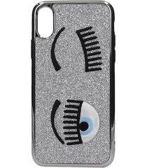 chiara ferragni iphone / ipad case in silver pvc
