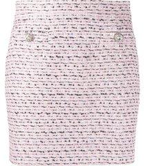 alessandra rich tweed mini skirt - pink