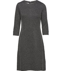 dress knitted fabric knälång klänning grå gerry weber