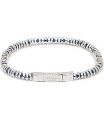 'mini click' silver disc bead bracelet