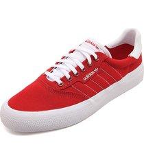 tenis lifestyle rojo-blanco adidas originals 3mc