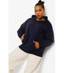 plus basic oversized hoodie, navy