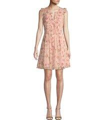 flutter-sleeve floral mini dress