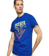 polera t diego a4 t shirt azul diesel