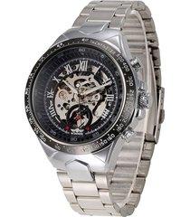 reloj mecánico automático hueco de acero de moda para-