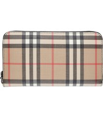 burberry checkered fabric wallet