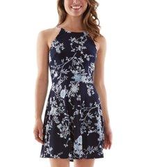 bcx juniors' floral-print fit & flare dress