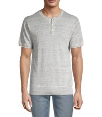 henley linen t-shirt