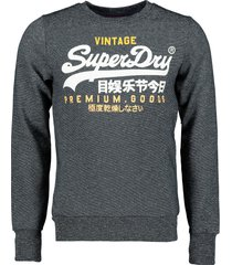 superdry pullover - slim fit - antraciet