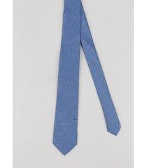 gravata masculina em jacquard azul