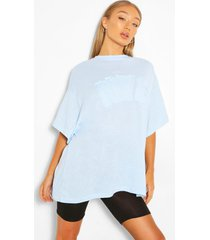 nyc applique oversized t-shirt, pastel blue