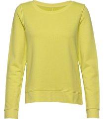 sweat-shirt, gmt dye, mop print at sweat-shirt tröja gul marc o'polo