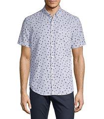 tree-print short-sleeve shirt