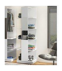 estante roupeiro com espelho e prateleira be mobiliário tog branco