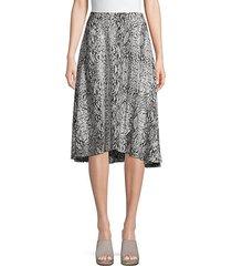 printed high-low skirt
