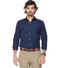 camisa azul navy colore