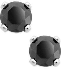 black diamond round stud earrings in 10k white gold (1/4 ct. t.w.)