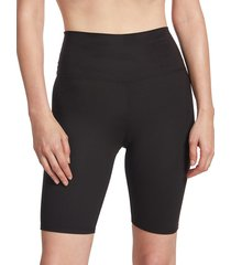 sage collective women's sueded jersey bike shorts - black - size xs