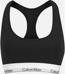 calvin klein women's modern cotton bralette - black - l