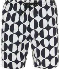 sandro paris circle print swim shorts - neutrals