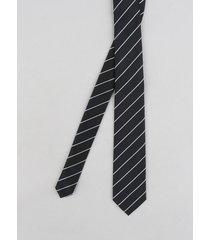 gravata masculina listrada em jacquard preta